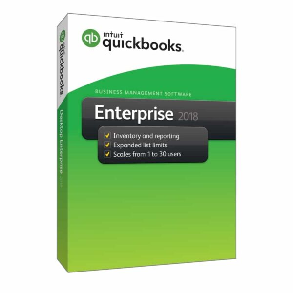QuickBooks Enterprise Edition 2018 - 30 Users (One-off Licences)